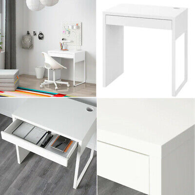 Ikea Micke Table Desk WorkStation Furniture For Home Office Computer White 73x50 • 69.99£