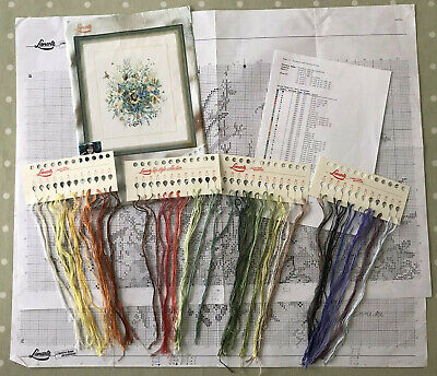 Lanarte 34478 'Large Summer Bouquet' Counted Cross Stitch: Chart Leftover-thread • 17£