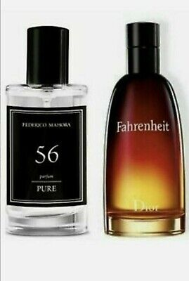 ⭐⭐ FM 56 For Men Pure Perfume Fragrance Dior Inspired By Fahrenheit 50ml • 13.45£