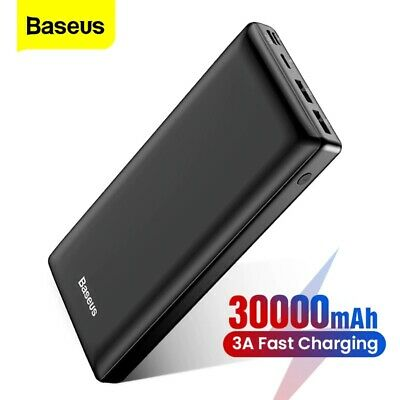 AU43.47 • Buy Power Bank 30000mAh Fast Charging External Battery Charger For Xiaomi IPhone