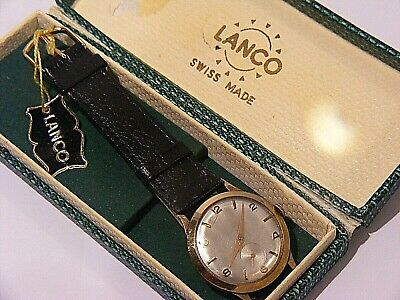Vintage Lanco Gents 9ct Watch And Case • 350£