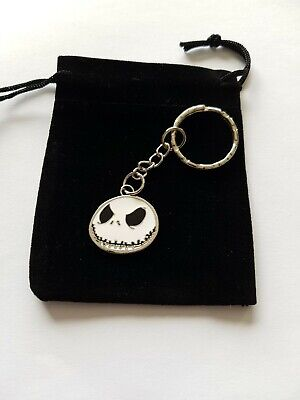 Jack Skellington Skull Keyring, Handbag Charm In Black Velvet Bag, Great Gift • 3.95£