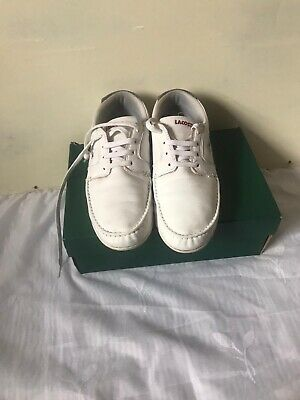 Lacoste Dreyfus All White Leather Shoes UK 8 EU 42 • 34.99£