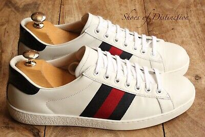 AU336.49 • Buy Men's Gucci Ace Blue Red Stripe White Leather Trainers Sneakers UK 6.5 US 7.5