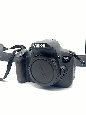 Canon EOS 650D / Rebel T4i 18.0 MP Digital SLR Camera - Black (Body Only) • 113£