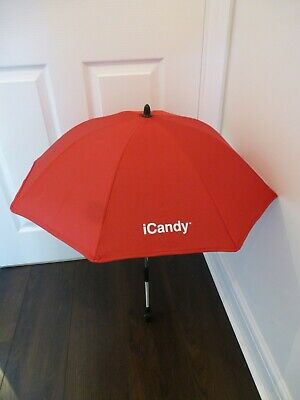 NEW & GENUINE ICandy Peach 1  Tomato  Red Sun Parasol / Umbrella, Fits 2 & 3 Too • 24.95£