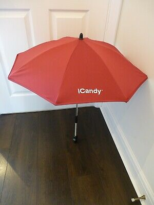 GENUINE ICandy Peach Jogger/All Terrain  Cranberry  Red Sun Parasol / Umbrella • 22.50£