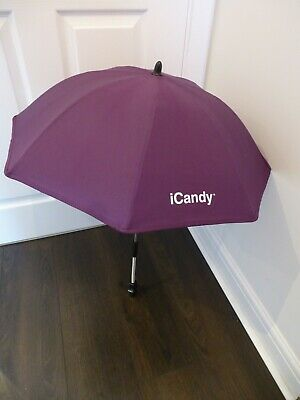 NEW & GENUINE ICandy Purple Sun Parasol/Umbrella For Apple Strawberry Peach Etc • 24.95£