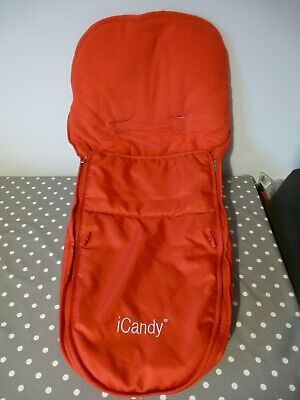 GENUINE ICandy Apple 1  Redcurrant  Red Seat Footmuff/Cosy Toes, Good Condition • 19.95£