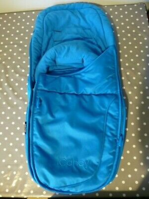 GENUINE ICandy Apple 2 Pear Seat Footmuff/Cosy Toes In Bright Blue VGC! • 27.95£