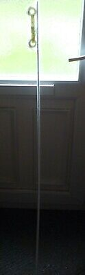 COLLECT ONLY - IKEA IRJA White Metal Simple Net Voile Curtain Rod Pole 55  140cm • 1.49£