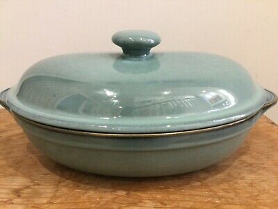 NEW VINTAGE DENBY Regency Green LARGE Oval Eared Casserole Dish And Lid 3 Pint • 72.99£