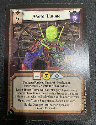 L5R CCG Moto Tsume Experienced 2 AEG Legend Of The Five Rings • 3.54£