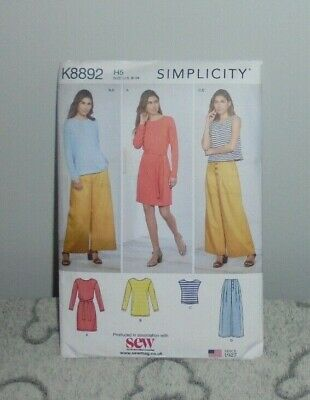 Simplicity K8892 Ladies Top Trousers & Dress Dressmaking Pattern • 3.99£