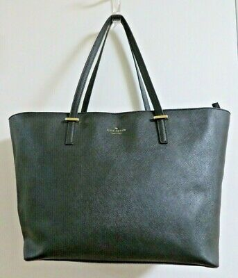 $ CDN48.10 • Buy Kate Spade Black Saffiano Leather Large Tote Shoulder Bag