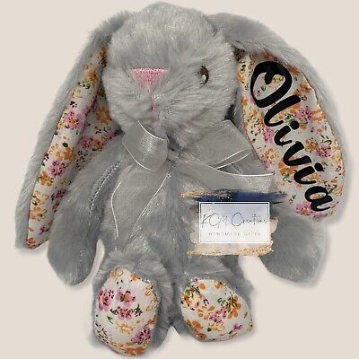 Baby Easter keepsakes First Easter gift Personalised My First Easter Bunny with name Baby girl boy 1st Soft rabbit 35 cm bunny toy for child