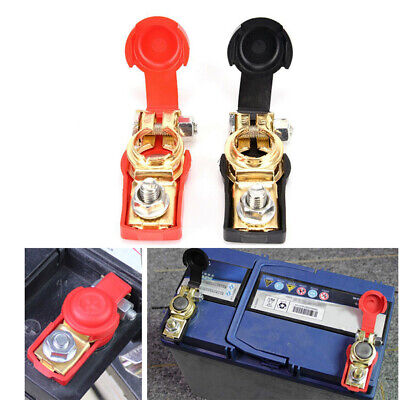 $6.66 • Buy Pair Car Marine Battery Terminal Connectors Clamps Clip Head Charger Black Red