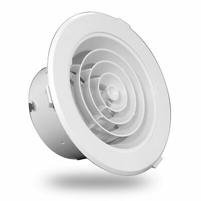 AU19.50 • Buy Heating Ceiling Round Vent ABS White Gas Ducted Heating Ceiling Vents Downjet