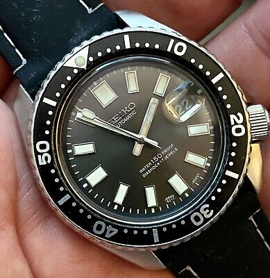 $ CDN115.50 • Buy Vintage 76/86 Seiko Auto 6309-729a Gray Dial Mod Diver Watch Bracelet +new Strap