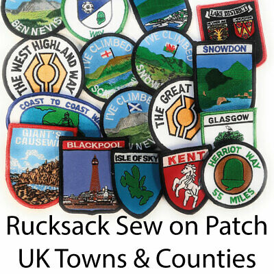 UK County / Region / City Sew-on Patch Huge Range FREE UK Delivery! • 3.99£