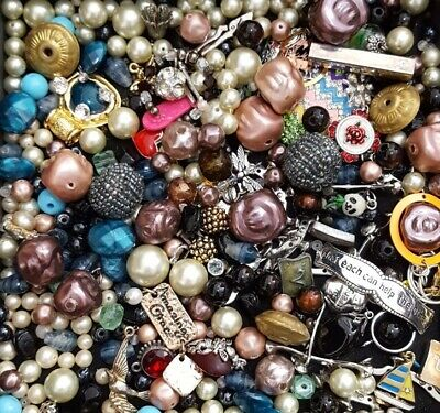 $ CDN28.39 • Buy Vintage Now Unsearched Untested Junk Drawer Jewelry Charm Bead Stone Lot L631