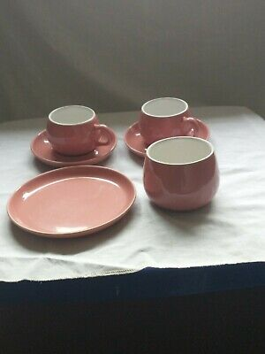 Vintage Langley Mill Pottery Stoneware Trio, Cup And Saucer And Sugar Bowl • 4.18£