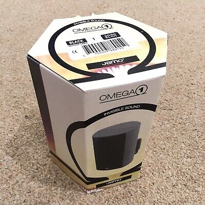 £50 • Buy Jamo Omega 1 - 5 Surround Speakers - Black - Warehouse Find - New Old Stock