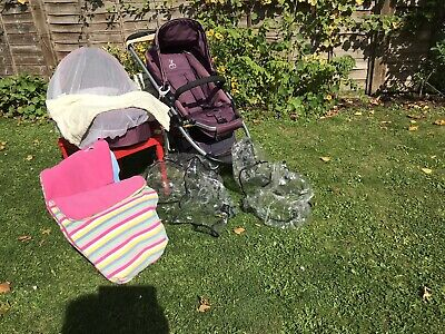 ICandy Cherry Pushchair Bundle Stroller Carrycot Footmuff Raincovers • 35£