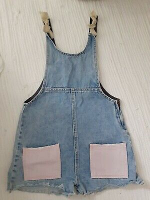 Girls Zara Denim Capsule Dungaree Shorts Aged 10 Years  • 2£