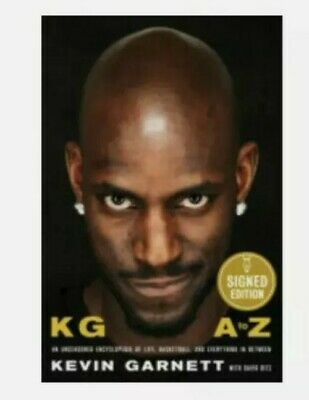 AU116.13 • Buy Kevin Garnett A To Z Hardcover Book FIRST EDITION IN HAND SIGNED EDITION