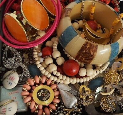 $ CDN34.07 • Buy Vintage Now Unsearched Untested Junk Drawer Jewelry Lot All Wear Estate L634