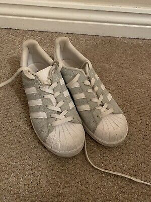 AU4.64 • Buy Women's Adidas Superstar Silver Trainers Size 5.5