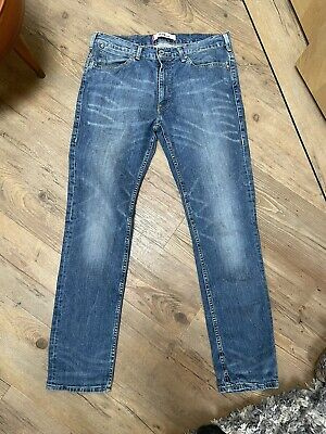 Mens Levi 519 Slim 32W 31L Preloved • 9.99£