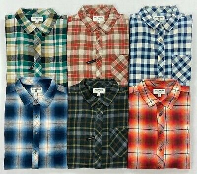 $33.99 • Buy Men's Billabong Wave Washed Button-Front Long Sleeve Flannel Shirt