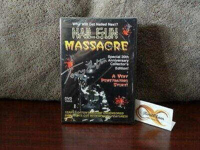 NAIL GUN MASSACRE 20th CE (DVD, 2004) SIGNED By Terry Lofton 50/500 Sealed. • 26.82£