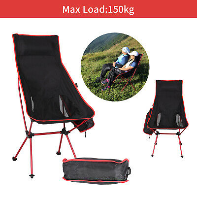 £17.49 • Buy Folding Camping Chairs Heavy Duty Luxury High Back Director Outdoor Chair