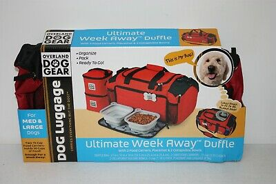 $ CDN57.79 • Buy Overland Travel Gear-Week Away Dog Luggage W/ Medium +Large Dog Bag W/food Bowls
