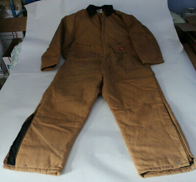 $44.99 • Buy Dickies Size XXL 50 -52  Chest Duck Tan Brown Quilt Lined Insulated Coveralls