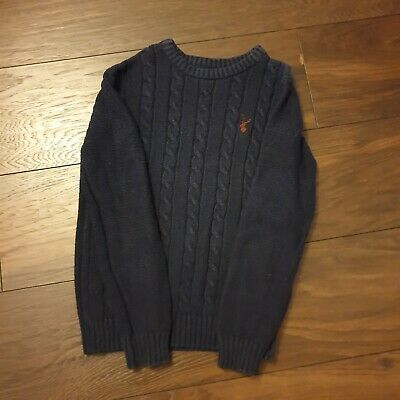 Debenhams Boys Blue Zoo Navy Blue Cable Knit Jumper Size 8- 9 Years • 1.99£