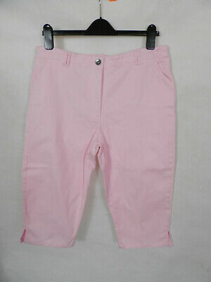 Womens/ladies Emreco Pink Stretch Knee Length Shorts Size 16 • 1.50£
