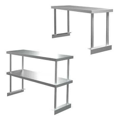 1/2Tier Kitchen Table Top Shelf Stainless Steel Over Shelf 900-1500mm Commercial • 109.95£