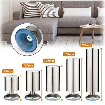 £12.99 • Buy 4X Stainless Steel Feet Plinth Legs Sofa Bed Cupboard Cabinets Furniture Stand