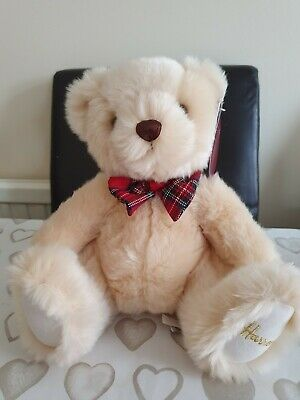 Harrods Gorgeous Teddy Bear Tartan Ribbon Brand New With Tags Bnwt Gift Present  • 12.99£