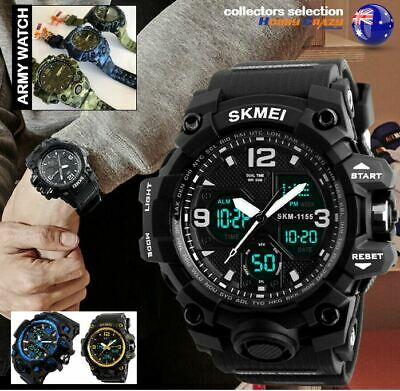 AU19.99 • Buy SKMEI MENS Digital Watch 50m Waterproof Dual Display Sport BIG Wristwatch 1155b