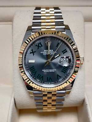 $ CDN22010.56 • Buy Rolex Datejust 41mm 126333 Wimbledon Box And Papers 2020 (74)