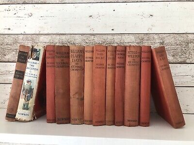 12 X Just William Books By Richmal Crompton, Illustrated Newnes Dated 1925-1951 • 70£