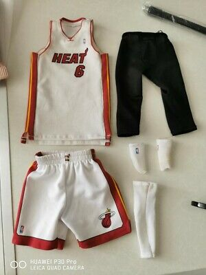 $50 • Buy Enterbay 1/6 Lebron James Miami Heat Uniform Only NO FIGURE NBA Basketball