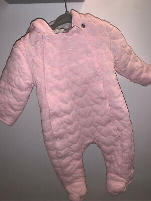 Baby Girl 0-3 Months All In One Pram Suit/snowsuit • 4.99£