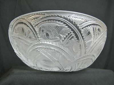 LALIQUE France Crystal PINSONS Frosted Glass BIRD Design 9.25  Bowl • 195.06£