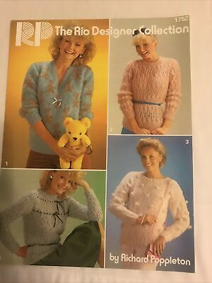 Ladies Sweaters Knitting Pattern In Mohair,4 Designs • 0.85£